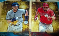 2015 Topps Archetypes Mike Trout A-4 & Derek Jeter A-12 Yankees & Angels #NewYorkYankees