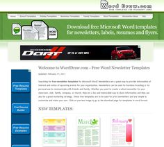 Learning Never Stops: Word Draw - Free newletter templates for MS Word