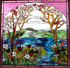 stained glass iris and daffodil garden   Contact Hank with your dimensions and color preference for a cost ...