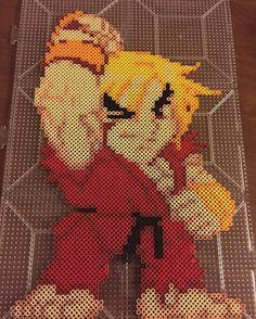 Ken - Street Fighter perler beads by cgbdesigns