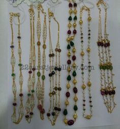 Jewellery Designs: Simple Beads Light Weight Sets