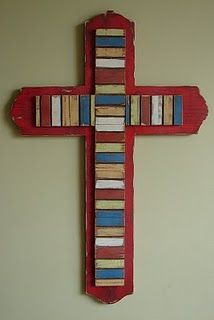 My sister makes these cute wall crosses!