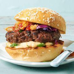 Spicy Kimchi Burger / BHG   kimchi burger? yes please!