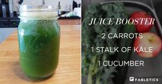 If you're not interested in a fruit smoothie, try kale, apples, and cucumber for a post workout drink that's refreshing and filled with antioxidants. | Fabletics FL_JuiceSmoothie01_700x365