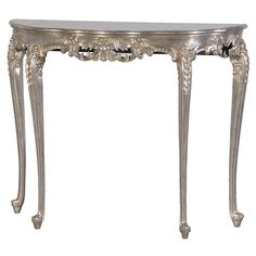 Sylvia Silver Console Table (Image 4) By The French Bedroom Company