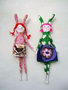 modflowers: rabbity girl dolls