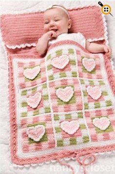 Crochet Patterns Sleeping Bag Pretty Hearts Baby Sleeping Bag Crochet Pattern in Crochet Bebe, Love Crochet, Crochet For Kids, Knit Crochet, Crochet Shawl, Baby Patterns, Knitting Patterns, Crochet Patterns, Crochet Ideas