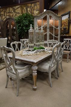 Elated carried out shabby chic dining room decor click over here Shabby Chic Dining Room, French Country Dining Room, Dining Room Furniture, Dining Room Table, Furniture Design, Furniture Ideas, Dining Chairs, French Furniture, Furniture Inspiration