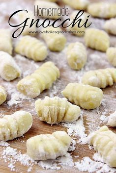 "Homemade Gnocchi with only 4 ingredients – This is so Easy! Gnocchi (N(Y)OK-ee)  The ""G"" is silent. Gnocchi are served warm to hot and eaten as a first course (primo piatto), as an alternative to soups (minestre) or pasta. They are generally home-made in Italian households.  Common accompaniments of gnocchi include melted butter (sometimes fried …"