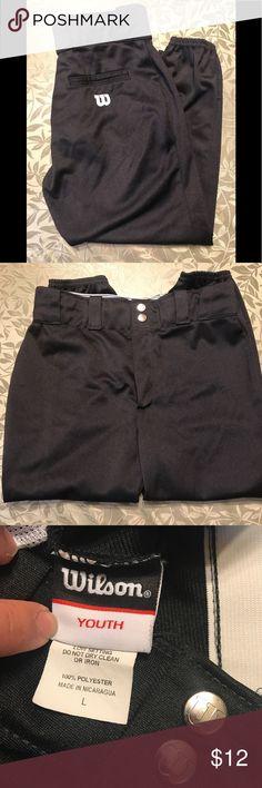 ⚾️GIRLS SOFTBALL PANTS⚾️ ⚾️ GIRLS SOFTBALL PANTS IN BLACK NEW NO TAGS⚾️ Wilson Bottoms Sweatpants & Joggers