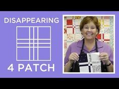 http://missouriquiltco.com - Jenny shows how to make the fabulous disappearing nine patch quilt block using charm squares. To browse the best selection of ch...