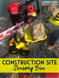 Construction Site Sensory Bin | A-Z Alphabet Series |