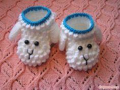 Lamb Booties Free Crochet Pattern