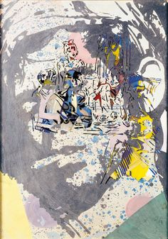 Sigmar Polke, Large Head, 1979, Oil and acrylic paint, watercolour, stencil technique, cut-out silhouette, 980 x 680 mm, Signed and dated in pencil at bottom right: S. Polke 79, Städel Museum, Frankfurt am Main