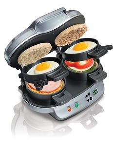 It IS still a present if he makes you one, too!  Hamilton Beach Dual Breakfast Sandwich Maker, $39.92, walmart.com   - Seventeen.com