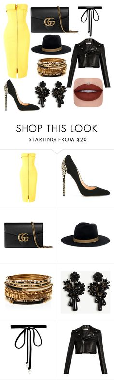 """""""Untitled #14"""" by raisaandra ❤ liked on Polyvore featuring Alex Perry, Cerasella Milano, Gucci, Janessa Leone, Amrita Singh, Ann Taylor, Joomi Lim and Yves Saint Laurent"""