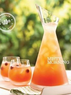Misty Morning -   -  1½ c Polar Ice Northern Maple Vodka  -    2 cups cranberry juice  -    4 cups fresh apple juice    1. Add all ingredients to a pitcher.  2. Stir and pour into glasses filled with ice.  3. Garnish with frozen cranberries.