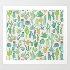 Buy Cactus by Abby Galloway as a high quality Art Print.