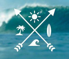 Summer Stickers Surfing Stickers Beach Stickers by Design . SUMMER Decal Surfing Sticker Beach Decal by Design. - SUMMER Decal Surfing Sticker Beach Decal by Design. Future Tattoos, New Tattoos, Small Tattoos, Beach Tattoos, Tatoos, Kitesurfing, Surfing Tattoo, Surf Mar, Sommer Tattoo