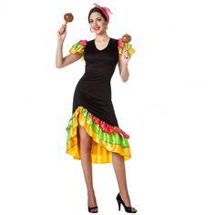 Disfraz de Rumbera Salsera para mujer #disfraces #carnaval #novedades2017