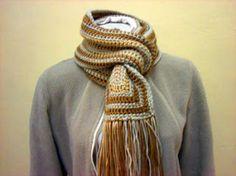 bufanda crochet hombre