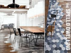 Designer Spotlight- Paola Navone: love the mixture of tiling and wood flooring side-by-side