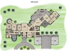 First Floor Plan of Traditional   House Plan 71513