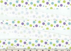 1 1/2 FLOWER POWER Polka Dots Grosgrain Ribbon New by StitchinAway, $5.25