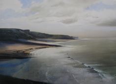 Southerndown, Limited Edition Print (Offset-Litho) from an original watercolour painting by Rob Piercy