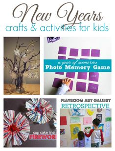 9 New Years crafts and activities for young kids.