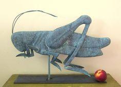Copper 1940-50 Grasshopper Weathervane
