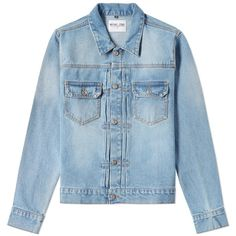 MKI 14oz Denim Jacket ($96) ❤ liked on Polyvore featuring men's fashion, men's clothing, men's outerwear and men's jackets