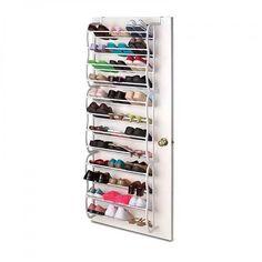 36 Pair Over Door Hanging Shoe Rack 12 Tier Shelf Organiser Storage Stand Holder for sale online