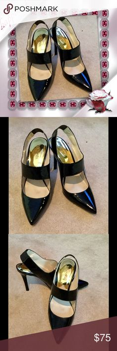 Michael Kors black patent heels These are a favorite of mine❤️Michael Kors black patent heels...excellent condition Michael Kors Shoes