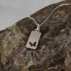 Pretty Sterling Silver Cutout Butterfly Silhouette Pendant £18.00