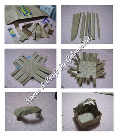 diy a basket with paper