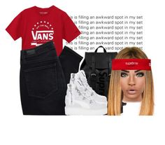 """""""💯"""" by wavyjai ❤ liked on Polyvore featuring Vans, Paige Denim, Louis Vuitton and Puma"""