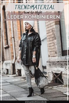 Trendmaterial Leder : so tragen wir den Trend 2020 Julies   Dresscode Fashion & Lifestyle Blog   #outfitidee #lederoutfit #lederkombinieren #modetrend2020 #streetstyle #trendmaterial2020