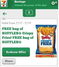 7-ELEVEN $$ Reminder: FREE Bag of Ruffles Crispy Fries (Mobile App Users Only) – Expires TODAY (7/19)!