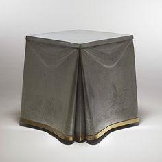 John Dickinson, #107 Galvanized Steel and Brass Table, c1975.