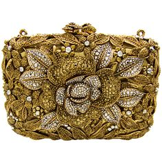 be mine.... butler & wilson gold flower couture clutch bag