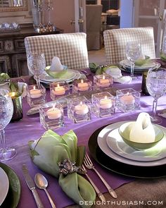 Set a DINNER PARTY TABLESCAPE using unusual dramatic elements like a pashmina for a tablecloth. | Designthusiasm.com #homedecor #tablesetting
