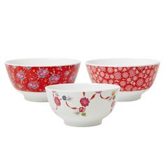 Rice DK Xmas Melamine Bowls in Assorted Prints