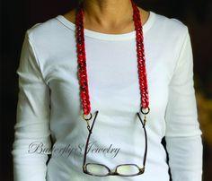 Lipstick Colors, Red Lipsticks, Sunglasses Holder, Chain Messages, Eyeglass Holder, Bracelets, Eyeglasses, Eyewear, Unique Jewelry