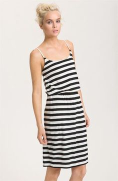 1ca260ecc1 french connection stripe tank dress in black daisy white stripe