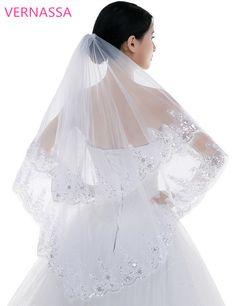 Voile mari/ée Nouveau Style Mariage la mari/ée Voile Dentelle 3M//5M Longue Ivoire blanc Un couches Tulle De mari/ée Voiles
