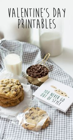 The BEST chewy chocolate chip cookie recipe, with some adorable printables for packaging them! Valentine Treats, Valentines Day, Valentine's Day Printables, Chewy Chocolate Chip Cookies, Sugar And Spice, Cookie Recipes, Packaging, Baking, Sweet