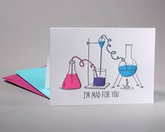 I'm Mad For You Letterpress Valentine Card by RiseAndShinePaper on Etsy https://www.etsy.com/listing/217955066/im-mad-for-you-letterpress-valentine