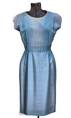 1960 Topaz Ice Vintage Cocktail Dress, Just In