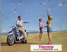 1961 Triumph Motorcycle advertisement @Rose Ann Jackson Motorcycles  #Motorcycle #Motorcycles
